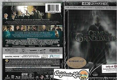 Fantastic Beasts Crimes Of Grindelwald 4K Ultra Hd + Blu-Ray ✔☆Mint☆✔ No Digital