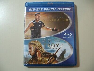 Troy / Gladiator (Blu-ray Disc, double feature) Brand New and Sealed