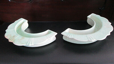 Antique Deco George Clews Pottery Semicircular Posy Vases