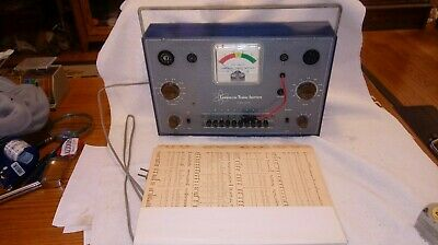 Vintage Vacuum Tube Checker Tester Commercial Trades Institute  Model TC-10