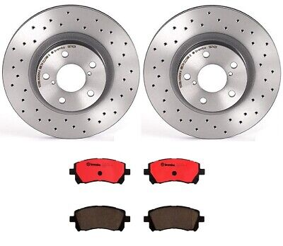 2X FRONT KIT Replacement OE Brake Disc Rotors for HYUNDAI ACCENT 2002-2006