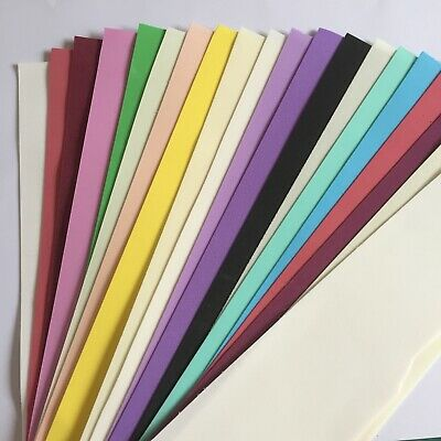 FOAMIRAN 0.6mm 20 strips Off Cuts different widths Flower Making Foamiran Pk.