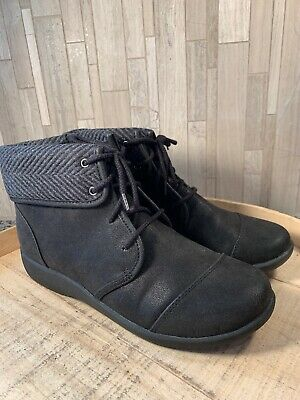 aa18bc212 CLOUDSTEPPERS BY CLARKS Ruched Ankle Boots - Sillian Frey 8M BLACK ...