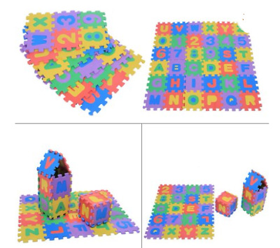 36Pcs Mat Baby Play Foam Puzzle Floor Numbers Alphabet Carpet Number Soft Game