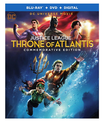 Justice League: Throne of Atlantis (Blu-ray/DVD, 2018) *Excellent Condition*