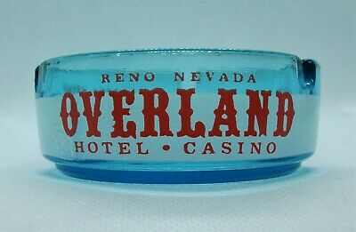 Vintage Overland Hotel Casino Reno Nevada colorful ashtray NICE