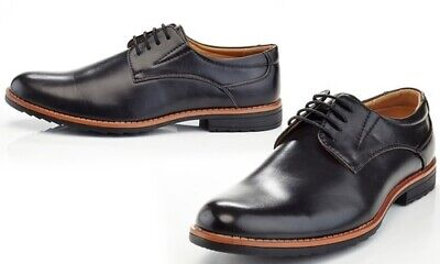 54ab9692b HENRY FERRERA COLLECTION Black Oxford Dress Shoes Lace Up Men s 10 ...