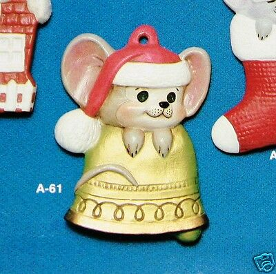 Ceramic Bisque Christmas Skiing Mouse Alberta Mold 231 U-Paint Ready To Paint