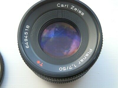 Carl Zeiss Planar 50mm 1:1,7 T* Prime Lens No. 6494518 For Yashica / Contax Y/C