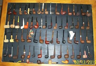 VINTAGE ESTATE LOT Of 64 Smoking Pipes Dr  Grabow, Nording, Rogers, Wally  Frank