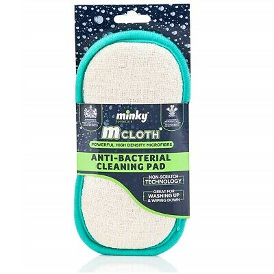 New Minky M Cloth Anti-bacterial Cleaning Pad Mrs Hinch Inspired Sponge Scourer