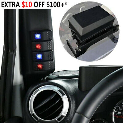 JK Switch Pod Left Hand A Pillar Jeep Wrangler 2007-2010 Switch Panel 2dr /& 4dr