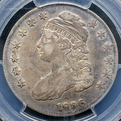 1836 Capped Bust Half Dollar, Overton O-107 - Lettered Edge - PCGS XF45