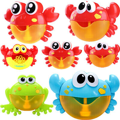 Cartoon Crab/Frog Bubble Machine Musical Bubble Maker Bath Baby Kids Shower Toys