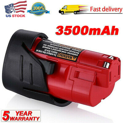 2.5AH For Milwaukee 48-11-2420 M12 Lithium 2.0 12Volt Compact Battery 48-11-2411