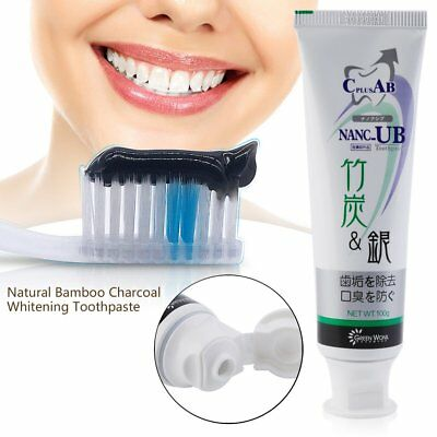 Natural Bamboo Charcoal Anti-halitosis Remove Smoke Stains Oral Toothpaste ♠♣