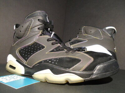 new product b17e4 ac867 NIKE AIR JORDAN Vi 6 Retro Lakers Black Purple Yellow White Red 384664-002  10.5