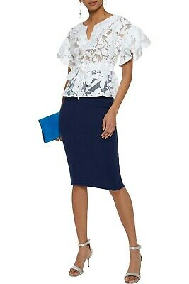 3bd3827ab2 $330 Milly Ponte Pencil Skirt in Navy Blue Sz S Stretch ~ Perfect for Work!