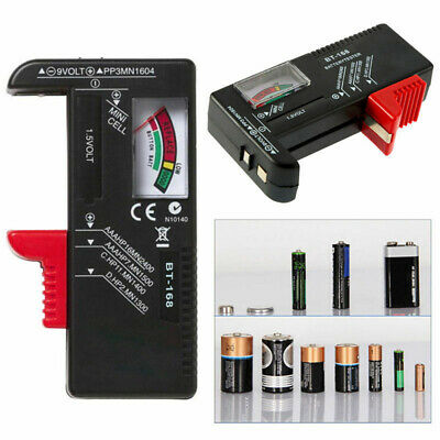 Universal Battery Button Cell Volt Tester Tester Tool AA AAA C D 9V Checker New