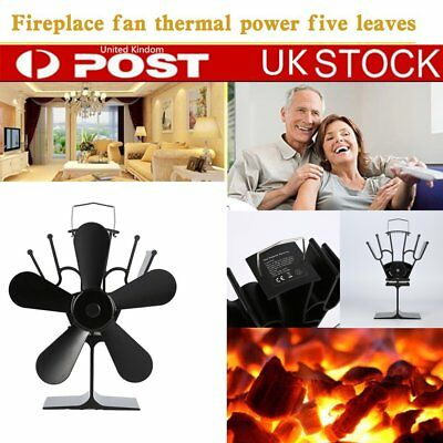 NEW 2018 Small 5 Blade Stove Fan for Wood Burners & Multi Fuel Gas Stoves UK&#