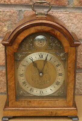 Fantastic Quality Wooden Cased Elliott Bracket Type Clock With Ornate Dial