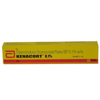 PACK OF 10 KENACORT 0.1% Triamcinolone oromucosal paste for oral ulcers
