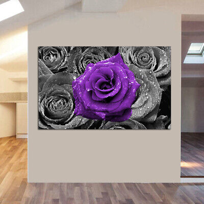 Modern Rose Flowers Canvas Art Painting Picture Print Oil Home Wall Decor