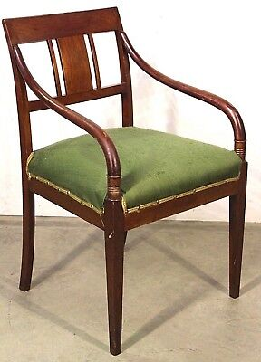 Art Deco Fauteuil.Antique Armchair Desk Chair Elegant Neoclassical Danish Fauteuil Art Deco Empire
