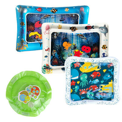 Kids Water Play Mat Inflatable Infant Tummy Time Toddler Baby Fun Activity Pad