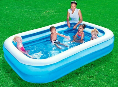 Large 8.6ft x 5.7ft Inflatable Garden Swimming Paddling Pool Rectangular 54006