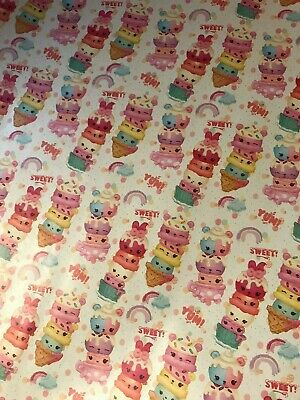 4m 8m 12m 16m NUM NOMS WRAPPING PAPER BIRTHDAY CHRISTMAS PRESENTS SWEET CAKES