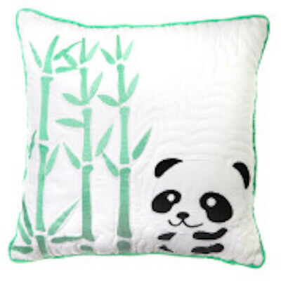 cushion cover plus insert Petee Panda 1 green and white