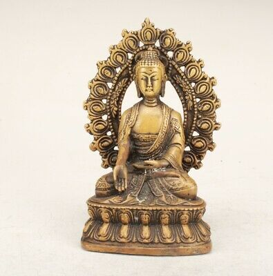 Exquisite Chinese Bronze Hand Carved Guanyin Statue Collection Decoration Gift