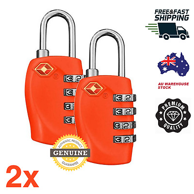 2 X Red 4 DIGIT Travel Locks TSA Approved Luggage ideal BACKPACK SUITCASE