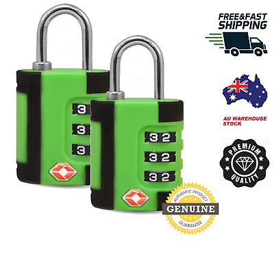 2 X Green 4 DIGIT Travel Locks TSA Approved Luggage ideal BACKPACK SUITCASE