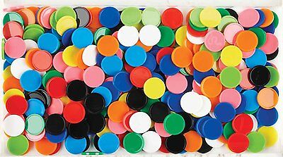 Counters Math and Games tokens 100pk - Coloured Round (20mm) Assorted Colours