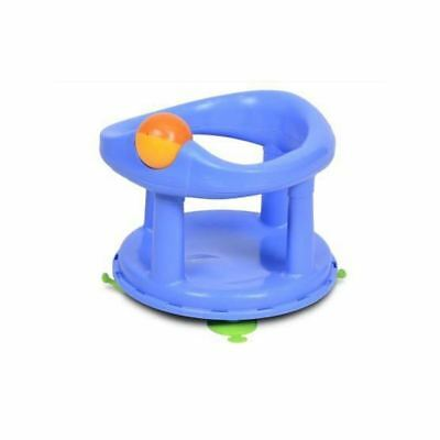 Safety 1st New Style Swivel Baby Bath Seat PASTEL BLUE Support Baby In Bath NEW
