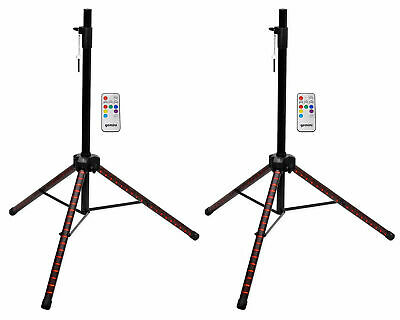 (2) Gemini STL-100 Tripod Karaoke Party Speaker Stands w/Customizable LED+Remote