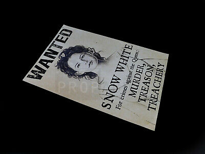 ONCE UPON A TIME TV Snow White's Wanted Poster Prop (OUAT0605)