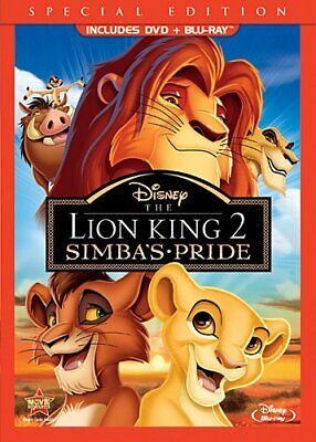 The Lion King II: Simba's Pride (2-Disc Blu-ray/DVD Combo - DVD packaging) NEW!