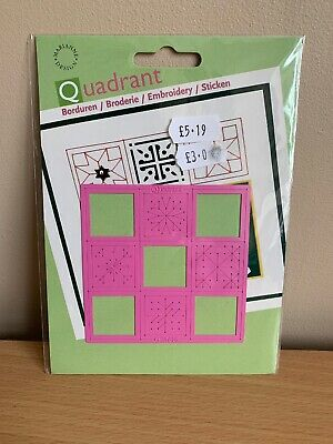 Quandrant Embroidery, Embossing, Punch Template
