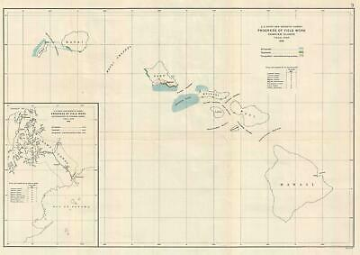 1926 Us Coast And Geodetic Survey Map Of Field Work In Hawaii - Us-coast-and-geodetic-survey-maps