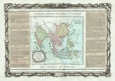 1786 Desnos and de la Tour Map of India, Southeast Asia, China and East Indies