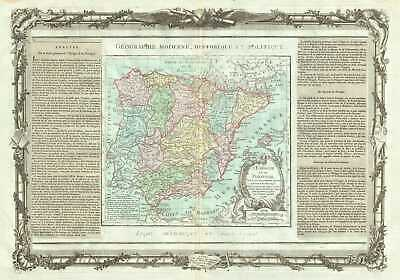 1786 Desnos and de la Tour Map of Spain and Portugal