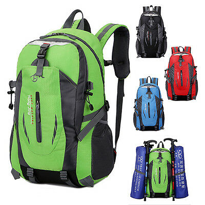 40L Waterproof Hiking Camping Bag Travel Backpack Outdoor Luggage Rucksack Large