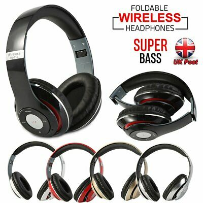 Foldable Bluetooth Wireless Over-Ear Stereo Headphones Sport Headset Microphone