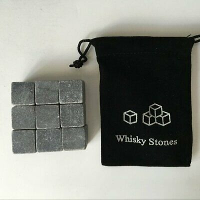 Natural Whiskey Stones Sipping Ice Cube Whisky Stone Bag Ice Tar CC