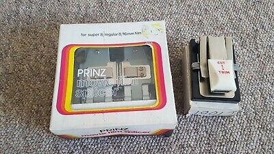 Prinz Movie Film 🎥 Splicer For Super 8/ Regular 8/16Mm Film Excellent Condition