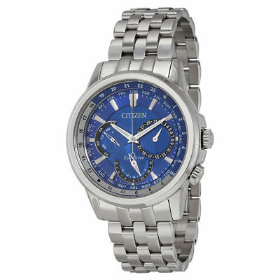 Citizen Men's $450 Eco-Drive Silver, Blue Dial World Time Watch   Bu2021-51L