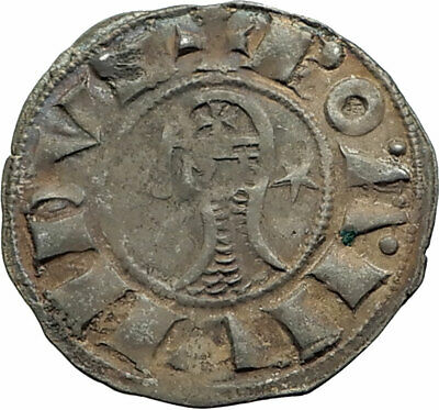 CRUSADERS of Antioch BOHEMOND III 1163AD Byzantine Time Silver Coin CROSS i74600